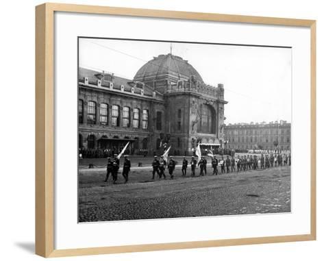Funeral Cortege of the Grand Duke Konstantin Konstantinovich, St Petersburg, 1915--Framed Art Print