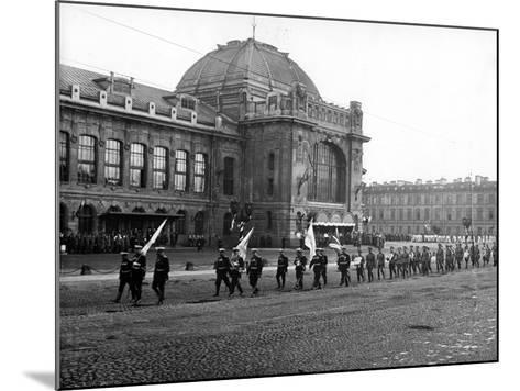 Funeral Cortege of the Grand Duke Konstantin Konstantinovich, St Petersburg, 1915--Mounted Photographic Print