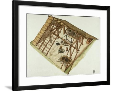 Germanic Alemannian and Goth Dwelling, 3rd Century--Framed Art Print