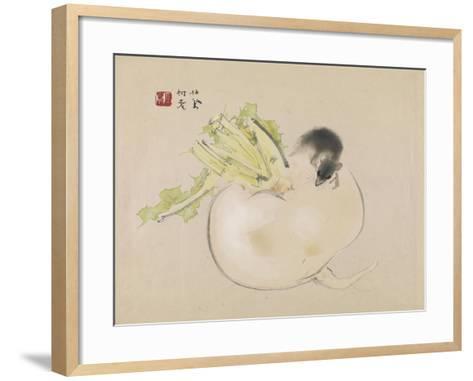 White Radish--Framed Art Print