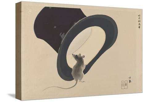 Mouse and Hat--Stretched Canvas Print