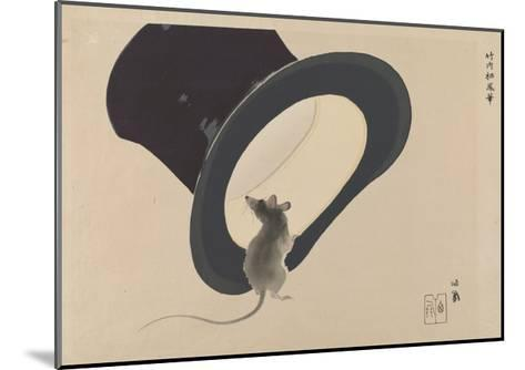 Mouse and Hat--Mounted Giclee Print