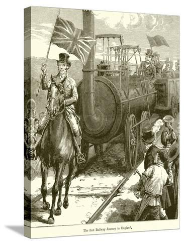 The First Railway Journey in England--Stretched Canvas Print