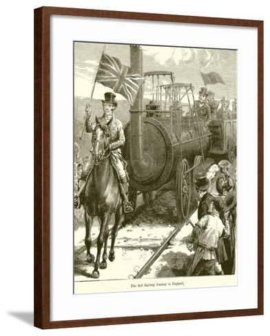 The First Railway Journey in England--Framed Art Print