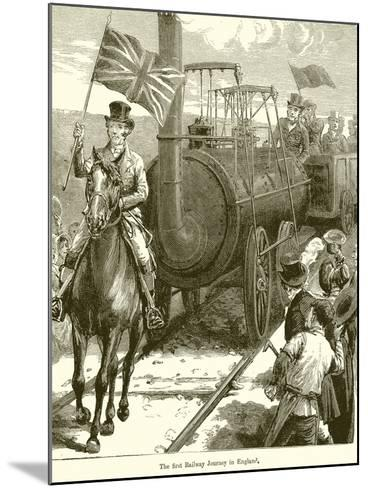 The First Railway Journey in England--Mounted Giclee Print