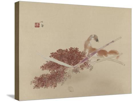 Seihô'S Masterworks: Ferret and Millet--Stretched Canvas Print