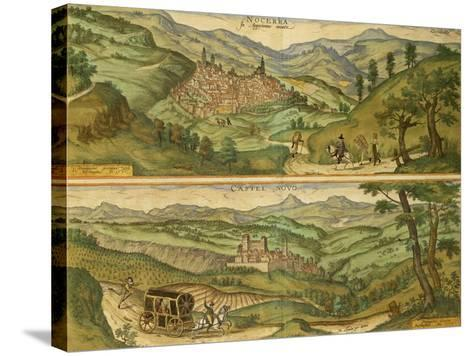 Map of Nocera and Castelnuovo from Civitates Orbis Terrarum--Stretched Canvas Print