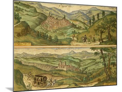 Map of Nocera and Castelnuovo from Civitates Orbis Terrarum--Mounted Giclee Print