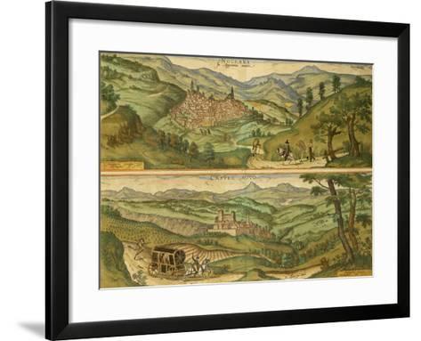 Map of Nocera and Castelnuovo from Civitates Orbis Terrarum--Framed Art Print