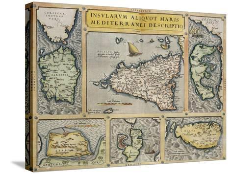 Map of Mediterranean Islands, from Theatrum Orbis Terrarum by Abraham Ortelius, 1528-1598, 1570--Stretched Canvas Print