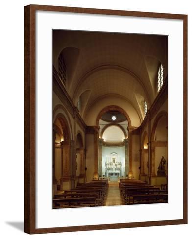 Italy, Emilia-Romagna, Rimini, Church of Colonnella, Central Nave, Renaissance--Framed Art Print