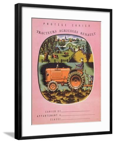 Cover of School Exercise Book Showing a Renault Tractor, 1950S--Framed Art Print
