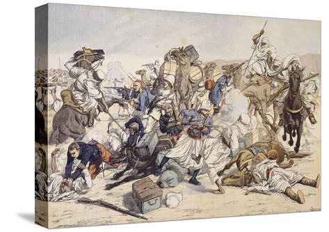 Illustration of Moroccans Attacking French Caravan in 1903--Stretched Canvas Print