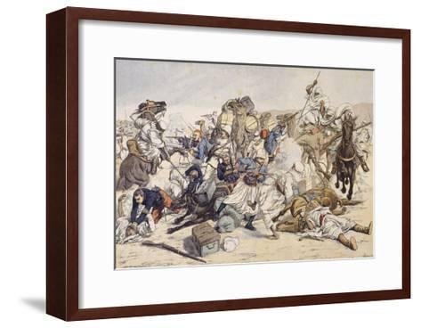 Illustration of Moroccans Attacking French Caravan in 1903--Framed Art Print