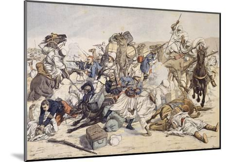 Illustration of Moroccans Attacking French Caravan in 1903--Mounted Giclee Print