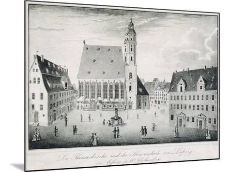 St Thomas Church and St Thomas School in Leipzig, Germany--Mounted Giclee Print