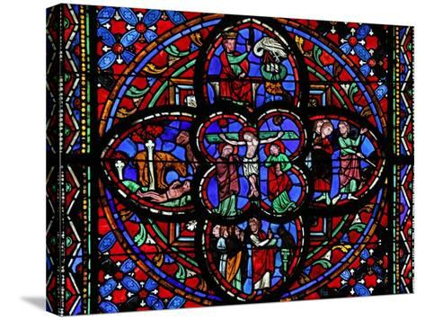 Window Depicting the Third Section of Window W0 with the Crucifixion--Stretched Canvas Print