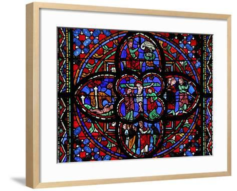 Window Depicting the Third Section of Window W0 with the Crucifixion--Framed Art Print