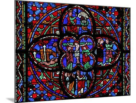Window Depicting the Third Section of Window W0 with the Crucifixion--Mounted Giclee Print
