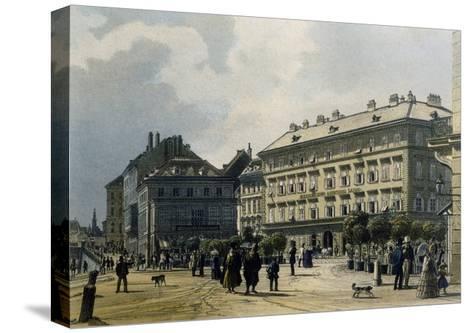 Gashof Zum Lamm in Vienna, 1830--Stretched Canvas Print