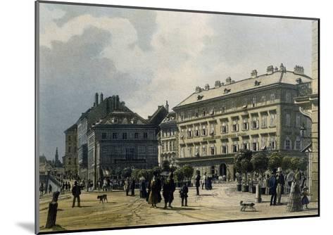 Gashof Zum Lamm in Vienna, 1830--Mounted Giclee Print