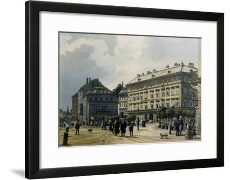 Gashof Zum Lamm in Vienna, 1830--Framed Art Print
