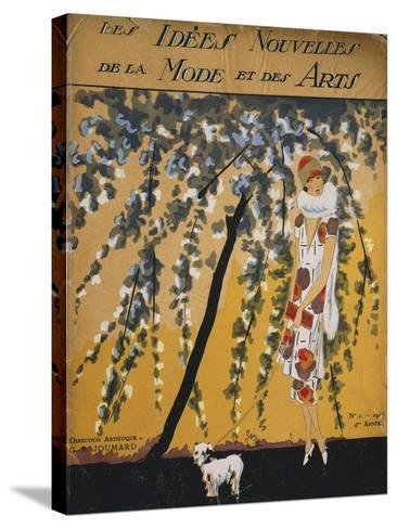 """Fashion Magazine """"Les Idees Nouvelles De La Mode Et Des Arts"""", Cover No. 2, 1925--Stretched Canvas Print"""