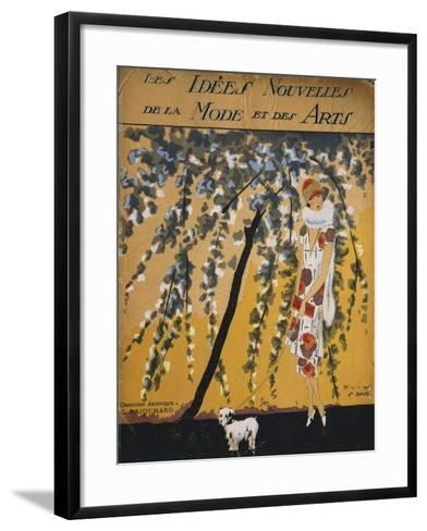 """Fashion Magazine """"Les Idees Nouvelles De La Mode Et Des Arts"""", Cover No. 2, 1925--Framed Art Print"""