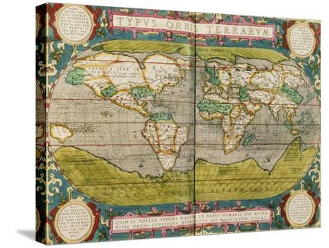 Map of the World, from an Atlas--Stretched Canvas Print