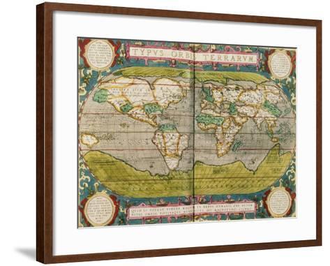 Map of the World, from an Atlas--Framed Art Print
