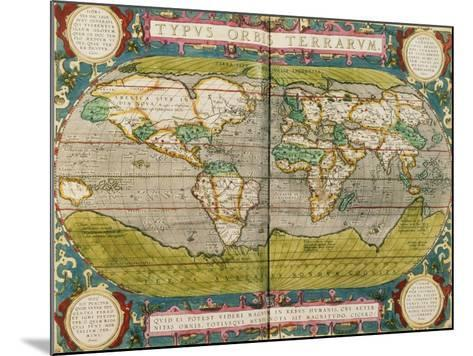 Map of the World, from an Atlas--Mounted Giclee Print