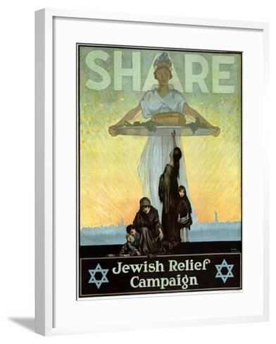Share - Jewish Relief Campaign, 1917--Framed Art Print