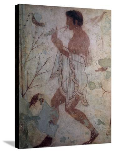 Flute Player, Fresco, Tomb of Triclinium, Monterozzi Necropolis--Stretched Canvas Print