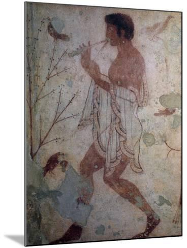 Flute Player, Fresco, Tomb of Triclinium, Monterozzi Necropolis--Mounted Photographic Print