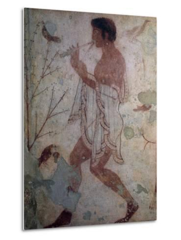 Flute Player, Fresco, Tomb of Triclinium, Monterozzi Necropolis--Metal Print
