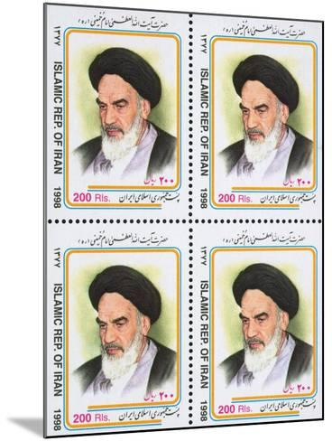 Iranian Postage Stamps with a Portrait of Ruhollah Khomeini--Mounted Giclee Print
