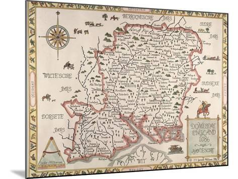 Map of Hampshire--Mounted Giclee Print