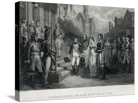 Napoleon Receives the Queen of Prussia at Tilsit, 1807--Stretched Canvas Print