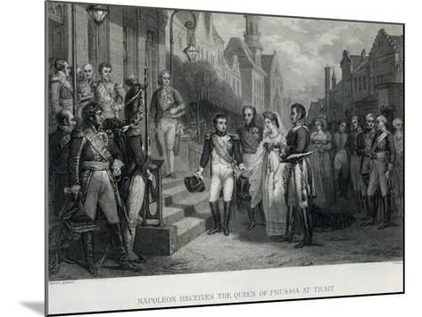 Napoleon Receives the Queen of Prussia at Tilsit, 1807--Mounted Giclee Print