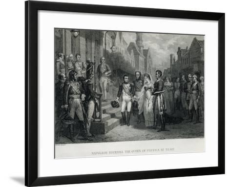 Napoleon Receives the Queen of Prussia at Tilsit, 1807--Framed Art Print