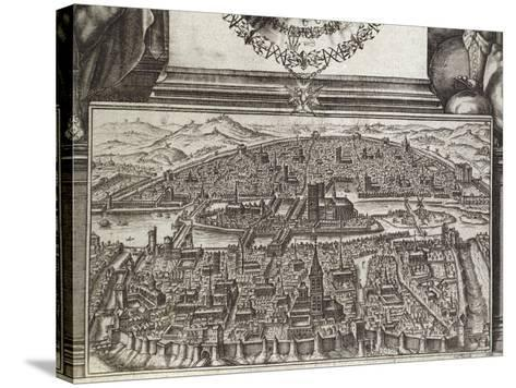 View of Paris, 1607, France 17th Century--Stretched Canvas Print