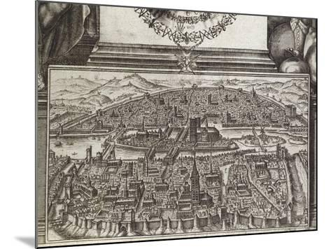 View of Paris, 1607, France 17th Century--Mounted Giclee Print