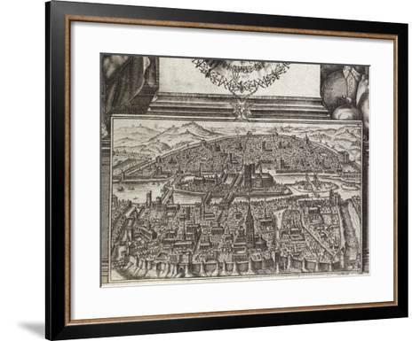 View of Paris, 1607, France 17th Century--Framed Art Print