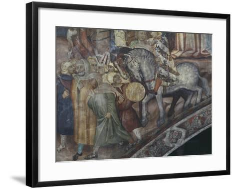 Group of People Marching, Detail from Crucifixion--Framed Art Print