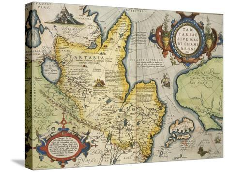 Map of Tartary, Northern-Central Asia, from Theatrum Orbis Terrarum--Stretched Canvas Print