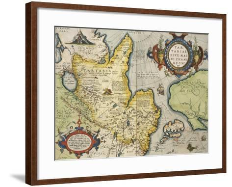 Map of Tartary, Northern-Central Asia, from Theatrum Orbis Terrarum--Framed Art Print