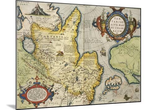 Map of Tartary, Northern-Central Asia, from Theatrum Orbis Terrarum--Mounted Giclee Print