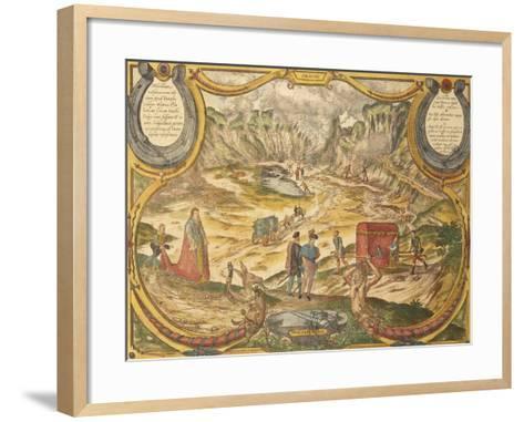 Solfatara at Campi Flegrei in Pozzuoli, Naples Province, Italy, from Civitates Orbis Terrarum--Framed Art Print