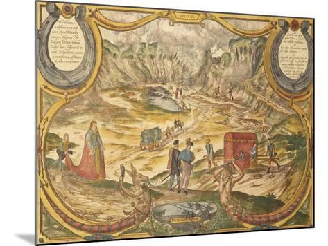 Solfatara at Campi Flegrei in Pozzuoli, Naples Province, Italy, from Civitates Orbis Terrarum--Mounted Giclee Print