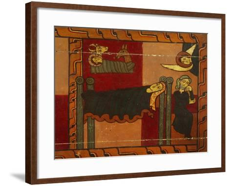 Nativity, Detail from Sagars Altarpiece, 12th Century, Tempera on Panel--Framed Art Print